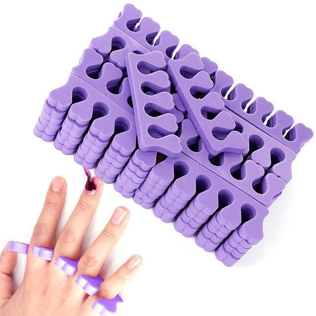 Monja 50/100pcs Pack Nail Art Toes Separators Fingers Random Color Soft Sponge UV Gel Polish Beauty Manicure Pedicure Tools 2