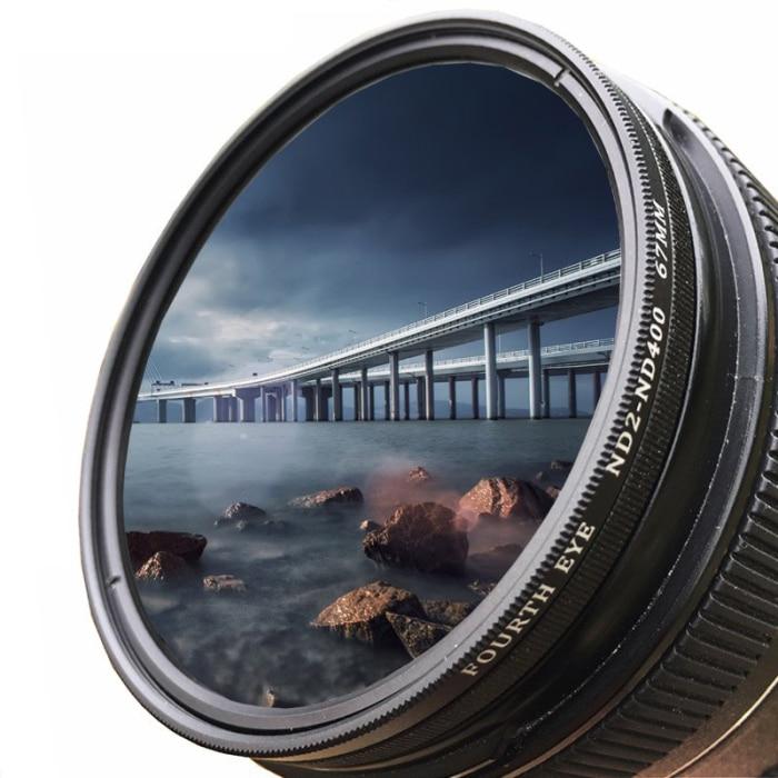 6.6mm AGC optical glass,Frame material ND2-400 Neutral Density ND Filter Fader Variable Adjustable Optical Glass Lens,Frame thickness Lens material Aviation aluminum ND Filter Lens