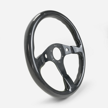 EPR Universal Fit For Civic Supra BRZ GT86 FT86 MX5 GTS S Type Carbon Fiber Flat Steering Wheel (340mm diamete,6 bolts 70mm PCD)