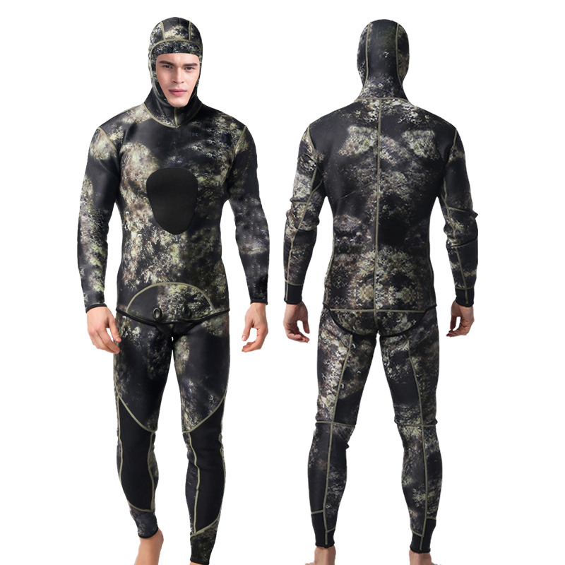 2MM Scuba Diving Suits 2 pcs wetsuit for Men Long Sleeve Keep Warm Wetsuits Spearfishing Rash Guards Surfing Swimsuits plus size|Wetsuit|   - AliExpress