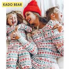Семейные комплекты на Рождество для мамы и дочки, пижама с рисунком оленя Снежинка отца футболка для сына штаны пижамный комплект для детей, домашняя одежда для сна