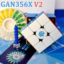 Cubo mágico magnético GAN356X V2, 3x3x3, cubo de velocidad 3x3, cubo de Rompecabezas 2x2x2 4x4x4, cubo de rompecabezas 2x2 3x3 4x4 GAN 251 356 460 M