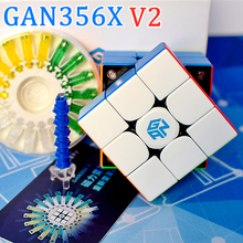 GAN356X V2 Magnetic 3x3x3 magic cube 3x3 speed cube 2x2x2 4x4x4 puzzle cube 2x2 3x3 4x4 cubo magico  GAN356 X GAN 251 356 460 M