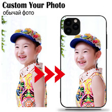 DIY Photo Custom Case Hitam Soft Cover UNTUK Samsung A9 A10 A10E A20 Plus A50 A50S A30 A40 A70 a80 2018 Natal Presen(China)