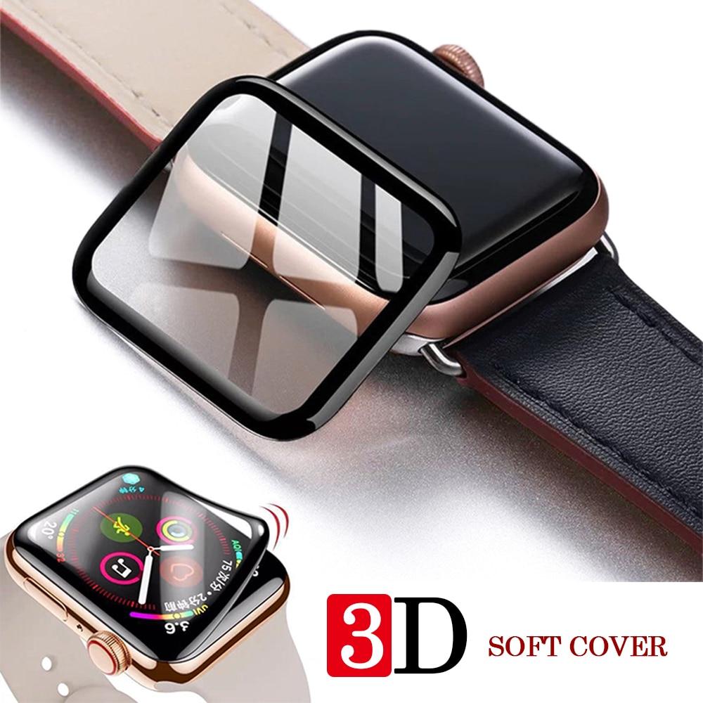 Apple Watch полное покрытие 3DTempered Glass для iWatch5 Band Cover Series 5 4 3 2 1 Защитное стекло для экрана iwatch 38 42 мм 40 мм 44 мм|Защита экрана часов|   | АлиЭкспресс