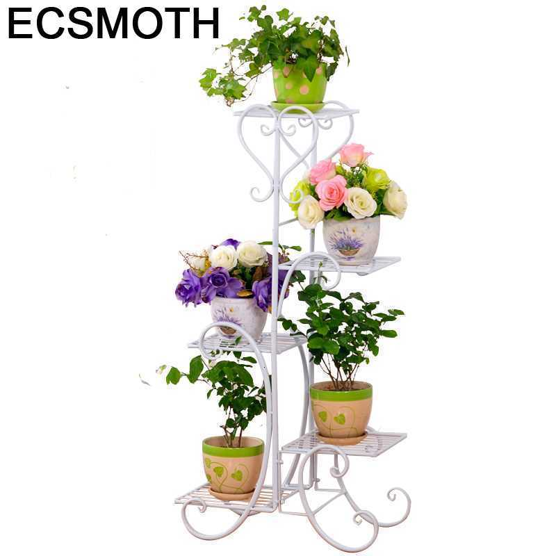 Image 1 - Scaffali In Metallo A Ripiani Support Plante Varanda Decoration Exterieur Shelf Plant Stand Balcon Balkon Flower Iron Rack-in Plant Shelves from Furniture
