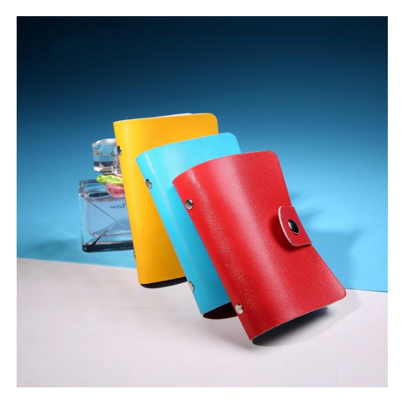 Women Card Holder PU Leather Function 24 Bits Card Case Business Card Holder Men Credit Passport Card Organizer paspoort hoesje
