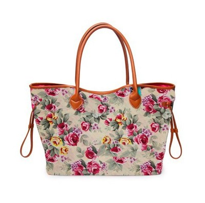 Womens Leather Abstract Sunflower Handbag Satchel Tote Bag Tote Purse