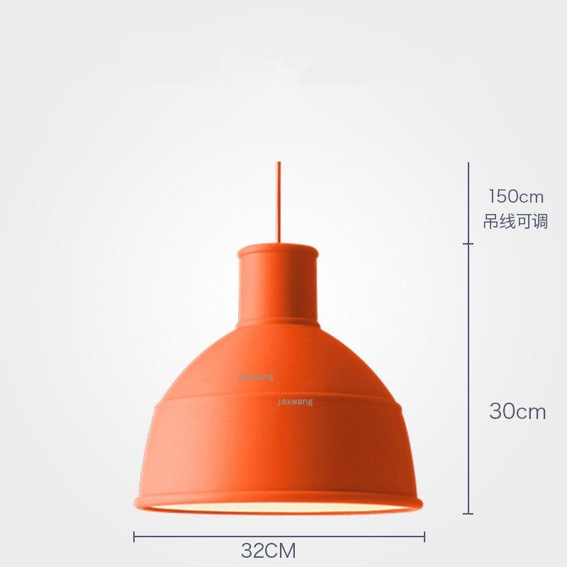 Новинка, подвесной светильник в скандинавском стиле, для столовой, макарон, s, смоляный светильник, светильники, кухонные подвесные лампы, подвесной светильник для гостиной, светодиодный, внутреннее освещение - Цвет корпуса: Orange 32CM