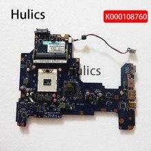 Hulics original computador portátil placa mãe para toshiba satellite l670 l675 nalaa LA-6041P k000108760 placa principal hm55 ddr3