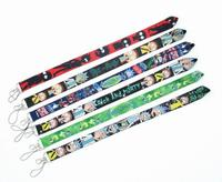 60 pcs Cartoon Japanese anime Neck Lanyard ID Badge Holders Mobile Neck Keychains For Party Gift WE 34