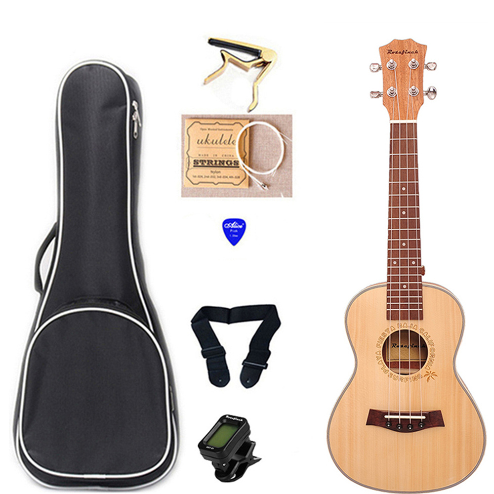 23 Inch Ukulele Concert Mini Guitar Mahogany Guitar With Bag Capo Belt Selection Gift Hawaii Ukulele UK2319A