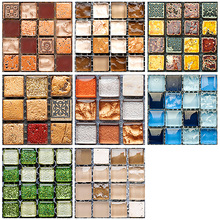 DIY cocina baño Home Tile Sticker 10 unids/set Vintage mosaico pared Tile Sticker impermeable autoadhesivo piso calcomanías
