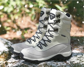 Unisex winter outdoor hiking boots lovers waterproof wool liner snow boots non-slip warm-keeping cotton snow shoes for -40c 3