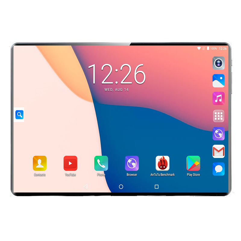 2020 Global Version Android 8.0 10 Inch Tablet 10 Core 6GB RAM 64GB 128GB ROM 1280*800 Dual SIM Cards Tablet  2.5D Screen