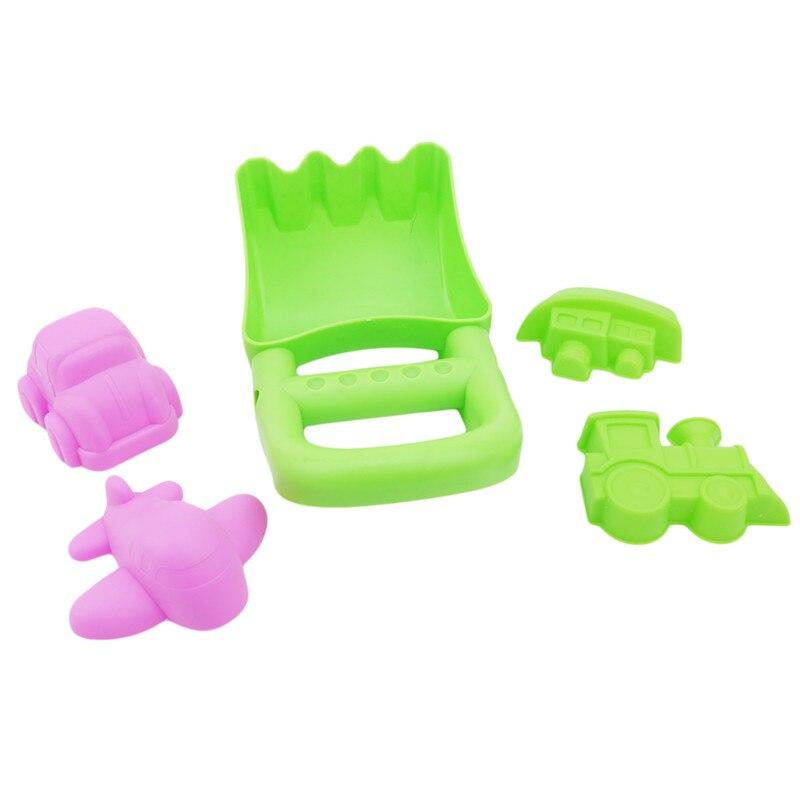 Random Colors New 5Pcs Sand Sandbeach Kids Beach Spade Shovel Rake Water Tools Toys For Kids