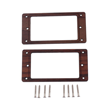 Rosewood Humbucker Pickup Mounting Ring Frame w/ Screws for Guitar Parts ootdty 4x lp guitar pickup surround screw humbucker pickup ring mounting screws suit for guitar