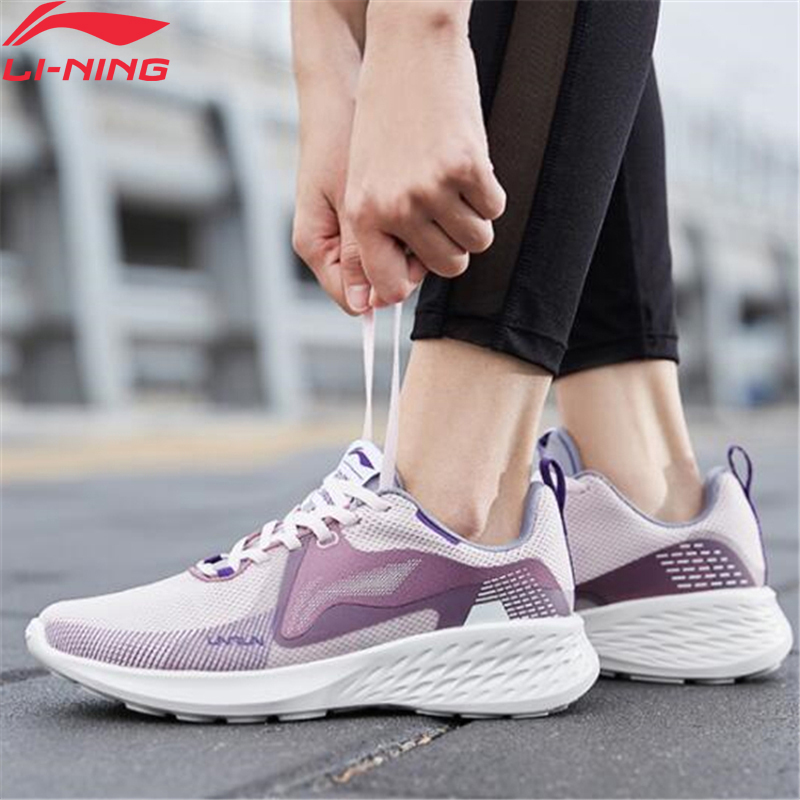 Li-Ning Women SOFT ELEMENT Cushion Running Shoes Light Weight Comfort LiNing Li Ning Fitness Sport Shoes Sneakers ARHQ026 XYP969