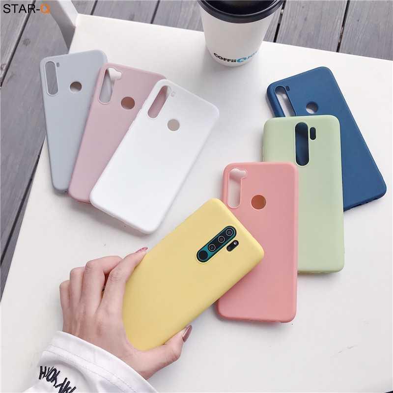17 Colori Della Caramella Custodia in Silicone per Xiaomi Redmi Note 8 Pro 8 T 7 7a 8a K20 K30 5 6 Pro 8 T Xiomi Opaca Molle Della Copertura Posteriore di Tpu Fundas