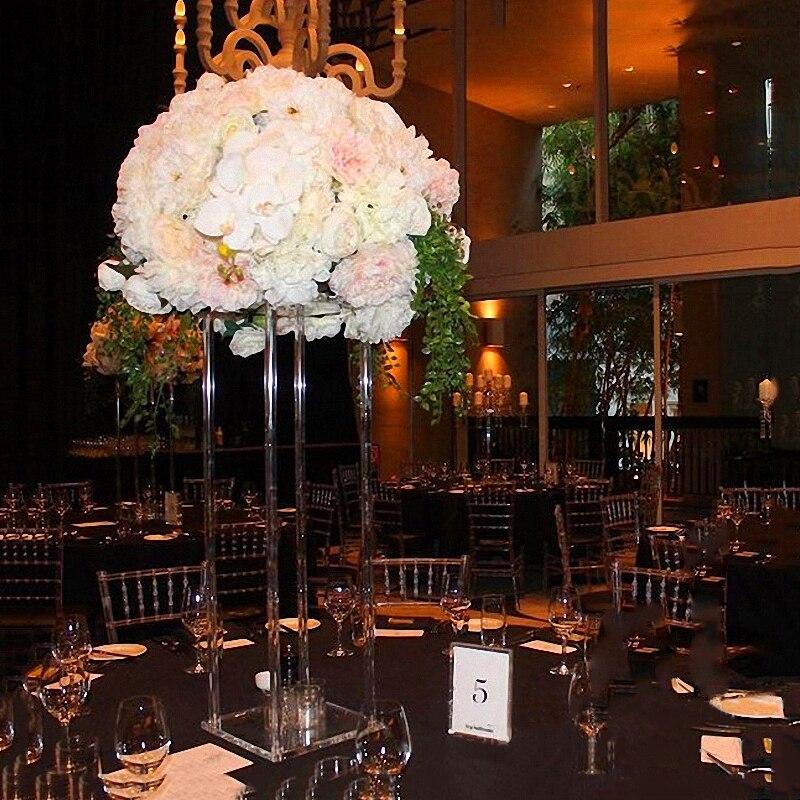 JAROWN New Wedding Desktop Centerpiece Flower Stand Flower Pillar Acrylic Crystal Road Lead Wedding Scene Layout Props (3)