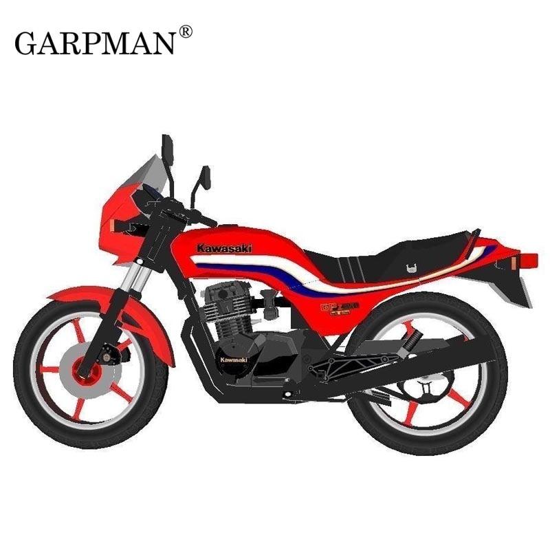 1:6 Japan Kawasaki GPZ - 750 Motorcycle DIY Shallow Line Version 3D Paper Model