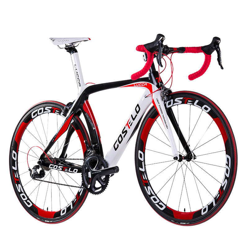 HOT SALE!full carbon costelo lucca road bicycle carbon <font><b>bike</b></font> DIY complete road <font><b>bike</b></font> completo bicicletta bicicleta completa image