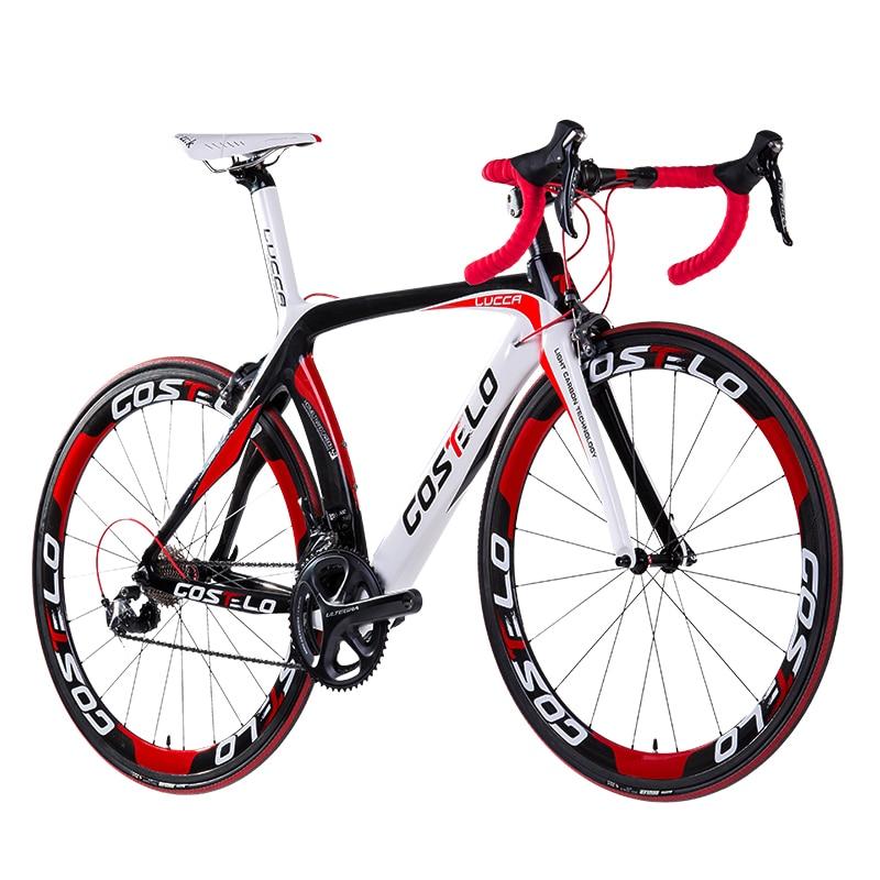 VENDITA CALDA! full carbon costelo lucca della bicicletta della strada della bici del carbonio FAI DA TE completa della bici della strada completo bicicletta bicicleta completa
