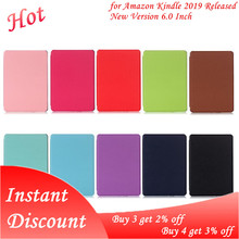 Ultra-Thin E-book Case Magnetic PU Leather Flip Stand Protective Cover for Amazon Kindle J9G29R 10th 2019 Released New Version cheap OOTDTY Protective Shell Skin CN(Origin) Protective Case Solid 11 5cm Casual for Amazon Kindle 2019 Released New Version 6 0 Inch