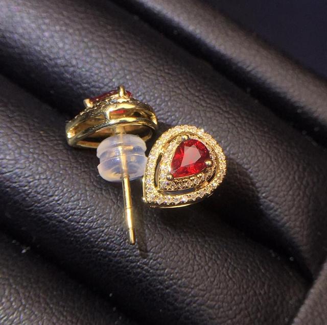 Ruby Earrings Real Pure 18 K Gold AU750 100 Nature pigeon blood red Ruby 0 6ct.jpg 640x640 - Ruby Earrings Real Pure 18 K Gold AU750 100% Nature pigeon blood red Ruby 0.6ct Female Earrings Fine Gift women Stud Earrings