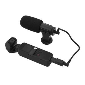 Image 3 - 3.5mm microfone microfone para dji osmo bolso/bolso 2 adaptador de áudio conector telefone montar titular desktop tripé para vlogging ao vivo