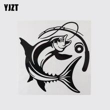 YJZT 14.9CM × 15.1CM משעשע ללכת דיג ויניל לרכב מדבקות פגוש מדבקות 13D 0973