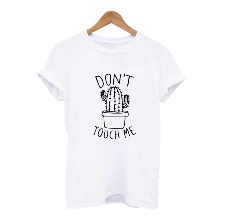 Cactus Gedrukt Vrouwen T-shirt Harajuku Zomer Vrouwelijke Top Tee Voor Lady Girl Grappige Ronde Hals T-shirts Hipster Tumblr