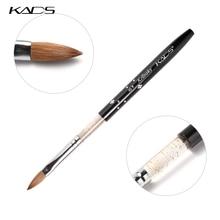 KADS Tamanho 8 # preto Kolinsky Sable Brush.Professional pincel kolinsky sable acrílico escova do prego para o acrílico