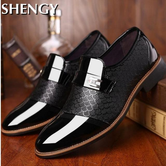 Genuiner Leather Embossing Classic Business Shoes 3