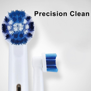 Image 4 - Oral Bเปลี่ยนหัวแปรงสีฟันสิ่งที่แนบมาแปรงอะไหล่ 4 ชิ้น/แพ็คPrecision Clean CROSS Action 3Dสีขาว