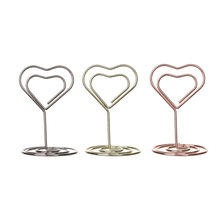 Number-Stand Place-Card-Holder Photo-Clip Desktop-Decoration Wedding-Supplies Diamond