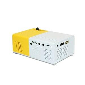 Image 3 - J9 PK Yg 300 מיני מקרן Led HD 1080P עבור AV USB מיקרו SD כרטיס USB מיני בית מקרן נייד מקרן כיס צהוב