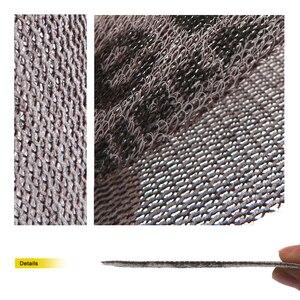 Image 2 - 5 pezzi 198*70mm Mesh senza polvere anti blocco a secco dischi abrasivi a strappo carta abrasiva abrasiva 80 #120 #180 #240 # carta per decorare auto