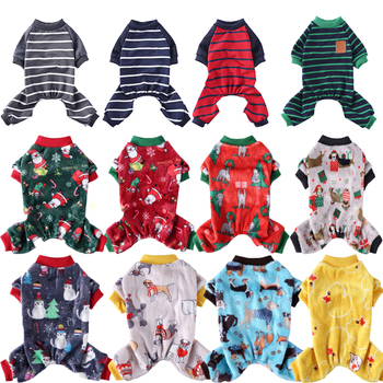 30 Colour Pet Dog Clothes Pajamas Vest Soft Cute Christmas Outfit Cartoon Pattern Costume Small And Medium Cold Weather Jumpsuit image