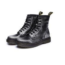 Schoen Veters Martin Laarzen split Leather inlegzolen High Top Motorlaarzen Winter/Herfst Doc Martin Vrouwen Schoenen(China)