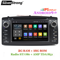 SilverStrong Android9.0 2Din Universal for Corolla Car dvd For Toyota Corolla E120 Auto Radio car player