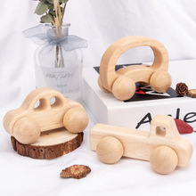 1pc Wooden Toys Beech Wood Car Blocks Cartoon Educational Montessori Toys Children Baby Teething Newborn Birthday Gift Wood Toy