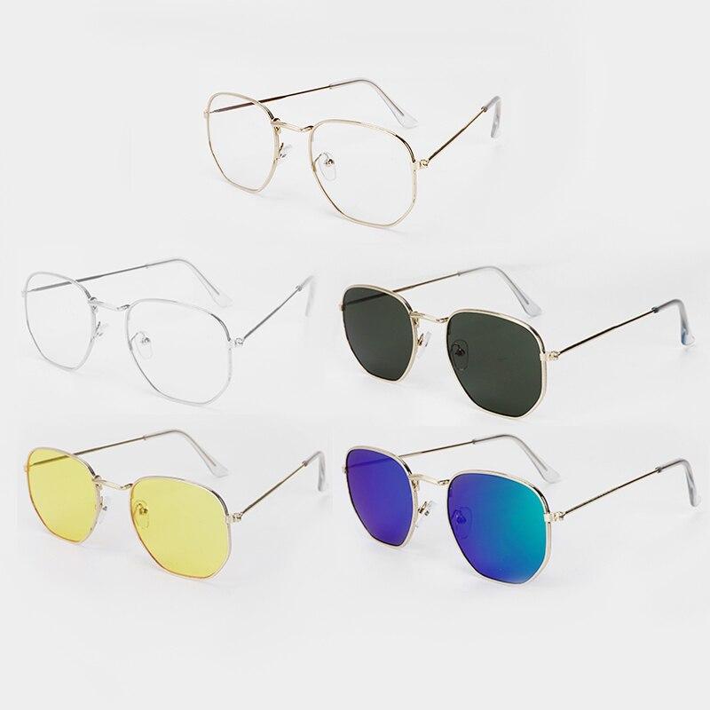 Unisex Retro Polygon Metal Eyewear Anti Blue Light Vintage Retro Optical Eye Glasses With 5 Colors