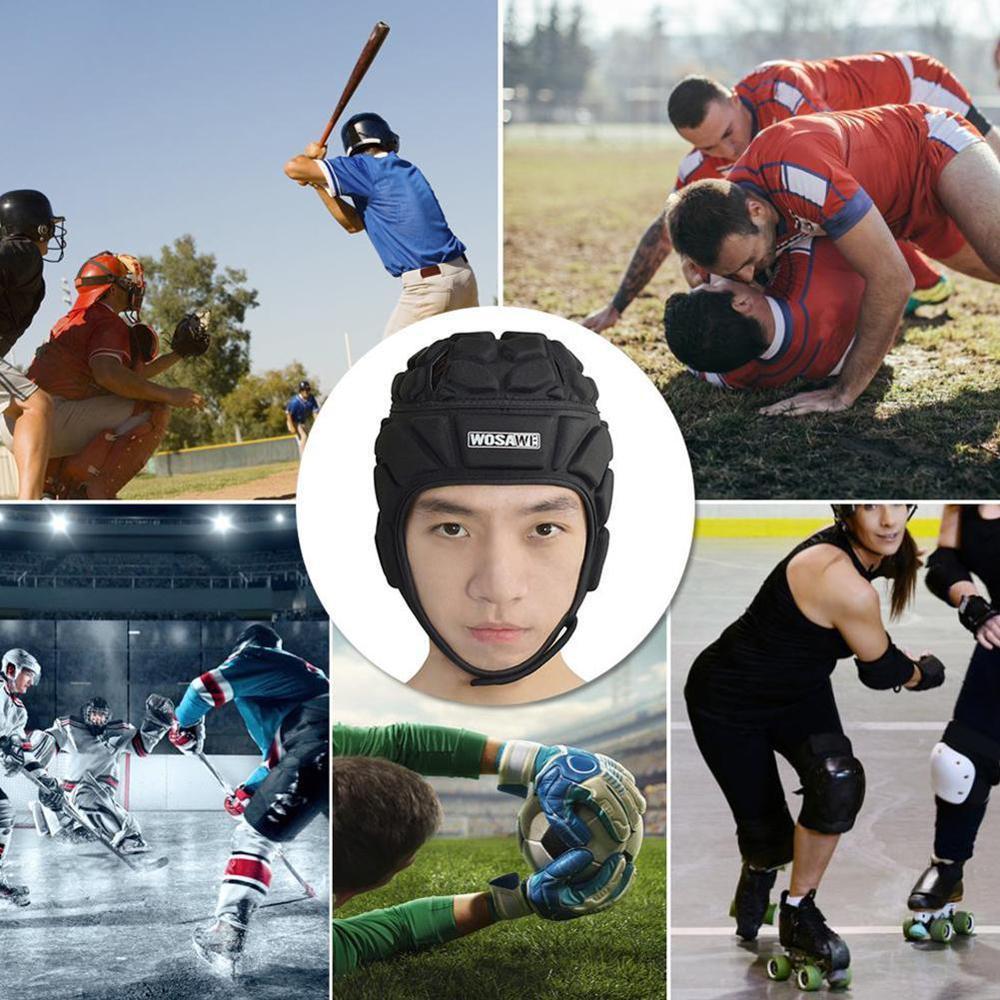 WOSAWE Soccer Goalkeeper Cap Rugby Skiing Skateboarding Head Riding Helmet Headgear