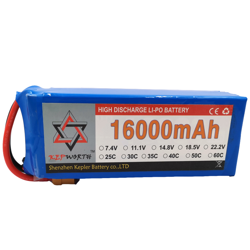 RC Lipo <font><b>Battery</b></font> High Capacity 3S 11.1V <font><b>16000mAh</b></font> 25C For Helicopter Drone Plane Car Toy RC Li-Po <font><b>Battery</b></font> High Power image