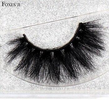 FOXESJI Mink Eyelashes Makeup 3D Lashes Dramatic Thick Cross High Volume Fluffy False Eyelashes Fake Eye Lashes Extension D22 недорого