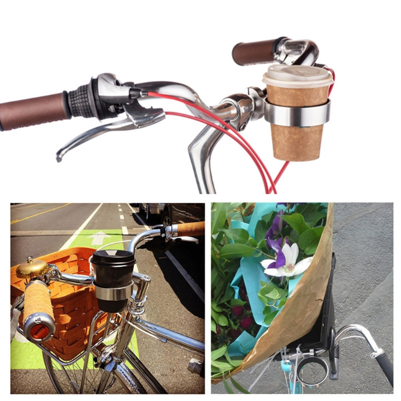 BIlinli Bicycle Coffee Cup Holder Bike Aluminum Alloy Kettle Bracket Drink Bottle Cage Bike Handlebar Mount