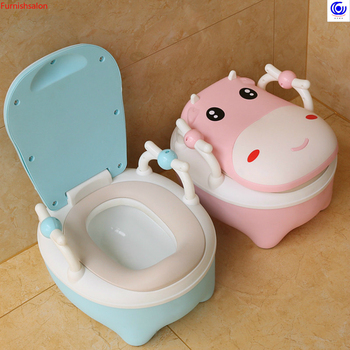 cute Calf toilet boys girls baby infants pelvis urinals large chair step stool kids furniture plastic easy to clean water wash