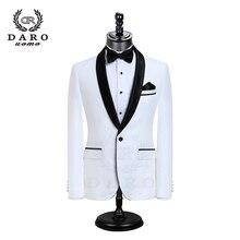 DAROผู้ชายชุดแต่งงานเจ้าบ่าวTuxedo Blazerสไตล์ใหม่Slimพอดีแจ็คเก็ตกางเกง 2 ชิ้นสีขาวสีดำสีฟ้าชุดปรับแต่งDR8858