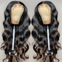Оптовая продажа, бразильские волнистые передние парики на сетке, волнистые человеческие волосы, парики для черных женщин 4x4, парик на сетке ...